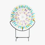 szkło sodowe: Magdalena Kucharska & Andrzej Kucharski-Marszczone Słońce / transparentne błękitny, opalizujący żółty, lila-róż/-Marszczone Słońca-2020
