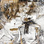 Magdalena Kucharska-M. w towarzystwie aniołów, twórczej weny i kochającego... acz wymagającego męża / Nr 3 -100x70cm-rysunki dyplomowe/ pracownia malarstwa i rysunku prof. Stanisława Kortyki-1991