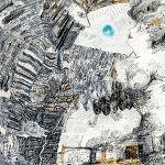 Magdalena Kucharska-M. w towarzystwie dobrych aniołów, twórczej weny i kochającego acz wymagającego męża / Nr 1-100x70cm-rysunki dyplomowe/ pracownia malarstwa i rysunku prof. Stanisława Kortyki-1991