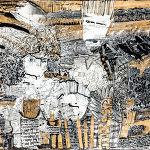 Magdalena Kucharska-M. w towarzystwie dobrych aniołów, twórczej weny i kochającego acz wymagającego męża nr 2-100x70cm-rysunki dyplomowe/ pracownia malarstwa i rysunku prof. Stanisława Kortyki-1991