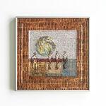 Szkło, papier, metalowa rama: Magdalena Kucharska-Madrygał, opus 2-40x40cm-rysunki w reliefowej ozdobnej ramie-2019