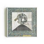 papier, szkło, metal: Magdalena Kucharska-Zajrzyj do męskiego świata-30x30cm-Rysunki w złoconej ramie-2020